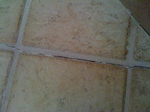 Grout Crack In The Shower Floor Ceramic Tile Advice Forums John Bridge Ceramic Tile