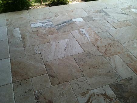 Chiseled Edge Travertine Ceramic Tile