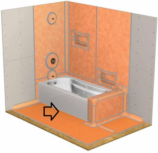 Kerdi Ditra Amp A Bathtub Ceramic Tile Advice Forums