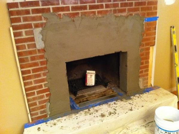 Tiling over a brick fireplace. Tile Forum/Advice Board