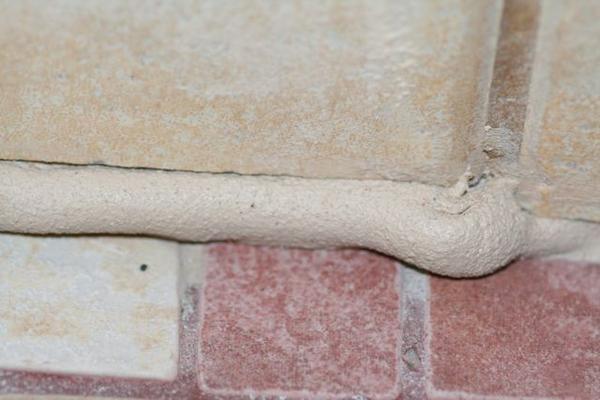 Caulking At Tile Corner Is Bubbling Up Ceramic Advice Forums