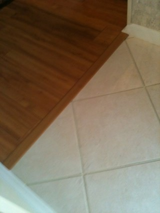 Transition Between Tile And Wood Ceramic Tile Advice