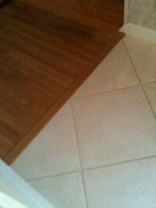 transition between tile and wood - Ceramic Tile Advice Forums - John ...