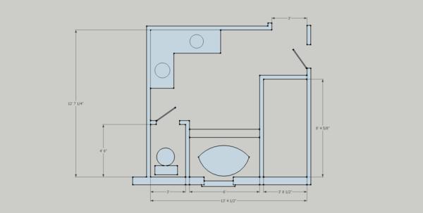 how to build a doorless shower