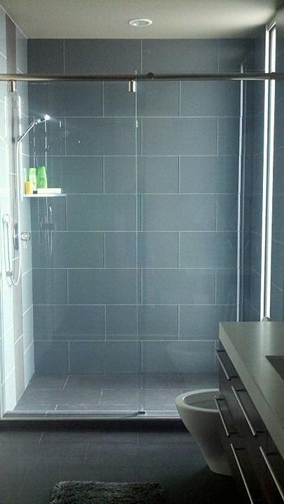 Large format glass tile in showers (steamers) - Ceramic Tile Advice ...