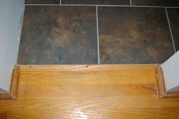 Transition between tile and hardwood - Ceramic Tile Advice Forums ...