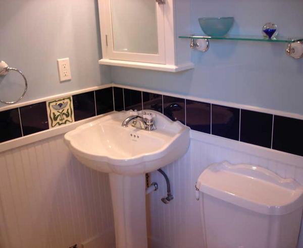Pedestal Sink With Backsplash Befon For