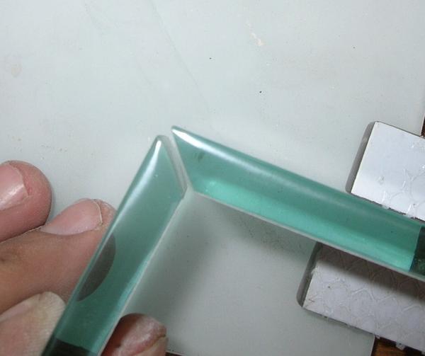 Tiling Outside Corner With Gl Tile Also Ending 1 2 Wall At Tiled Shower Ceramic Advice Forums John Bridge
