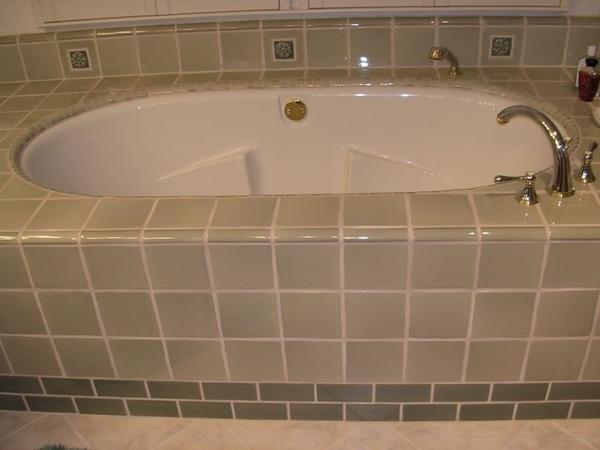 how to build a tile hot tub