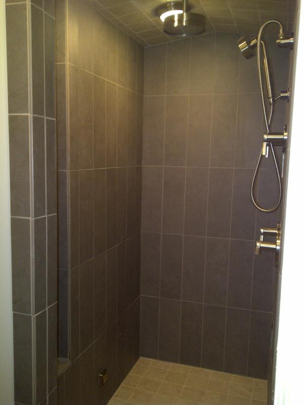 Building a steam shower ceiling slope for Build steam shower