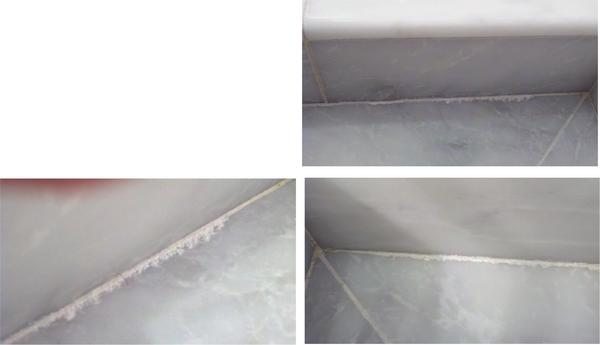 Efflorescence Or Latex Leaching Grout Ceramic Tile
