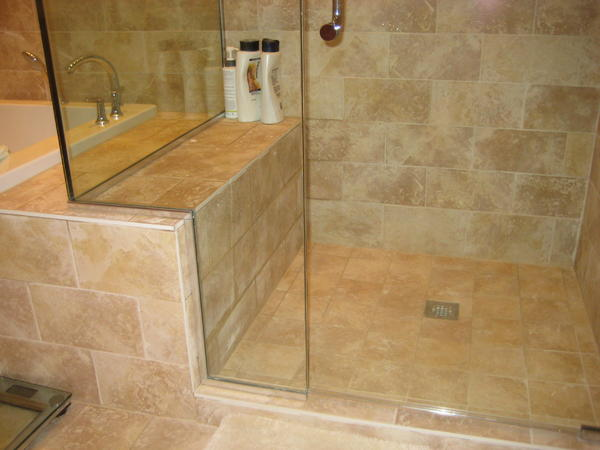 Shower Bench Not Pitched And Won T Drain Ceramic Tile