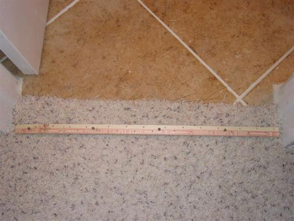 Carpet to tile transition how info ceramic