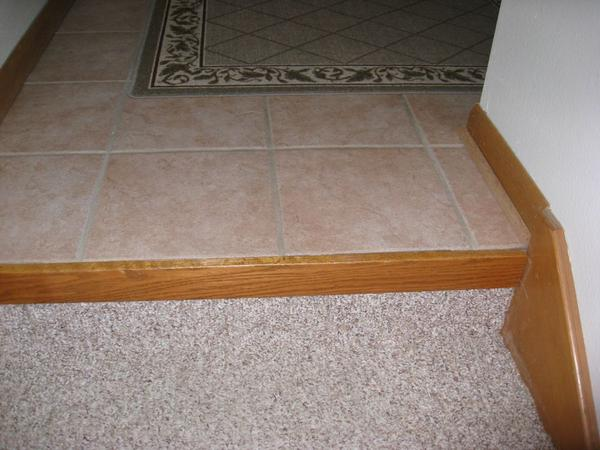 Tiling Entrance Way What Do I Do At The Stairs Ceramic
