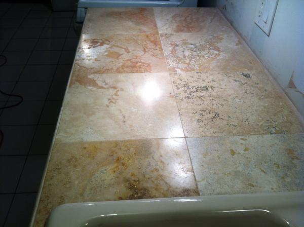 Travertine Vs Granite Countertops : My travertine countertop polishing thread ceramic tile