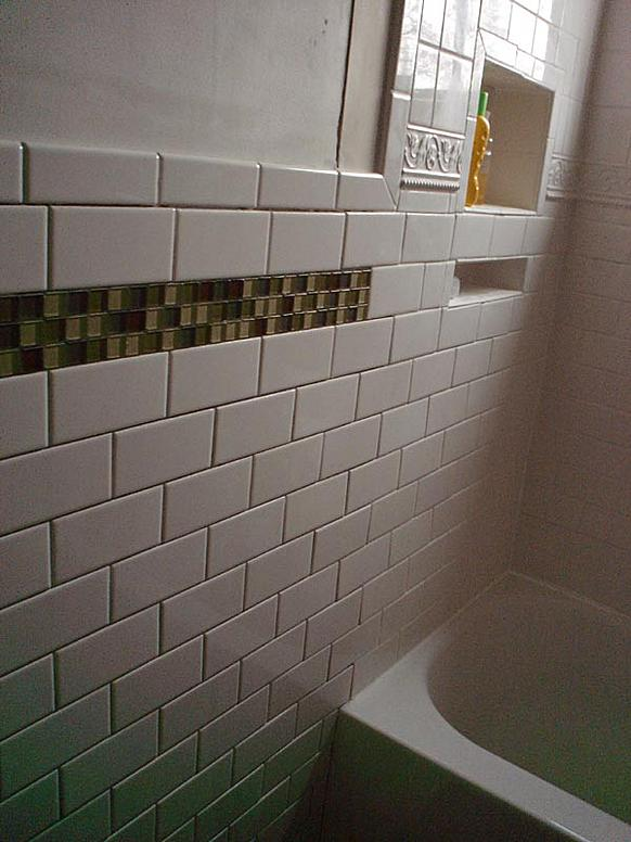 Shower drywall transition to existing walls ceramic tile - Tiling a bathroom wall on drywall ...