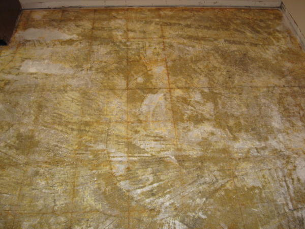 Removing Adhesive From Concrete Slab Ceramic Tile Advice