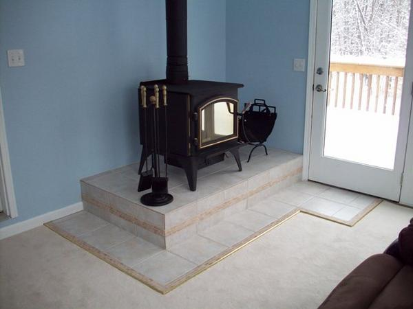Need Ideas For A Wood Stove Tiled Wall Shield Ceramic
