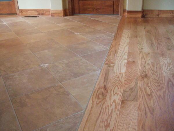Tile To Hardwood Transition Q Ceramic Tile Advice Forums