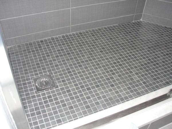 Walk In Shower Drain Or Pitch Problem Ceramic Tile