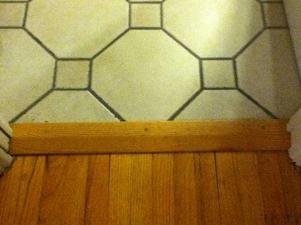 Bathroom Tile To Hardwood Transition Threshold Ceramic