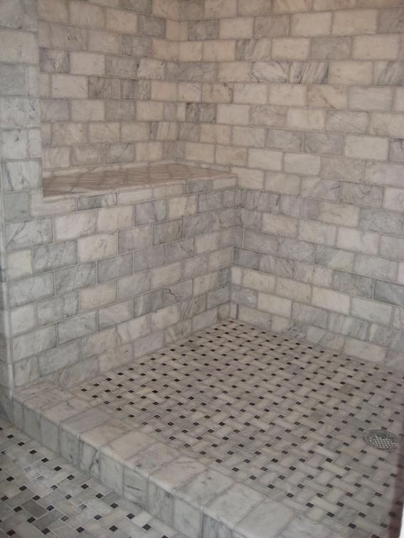 Lycian Large Basketweave Tile Vs Carrara Marble