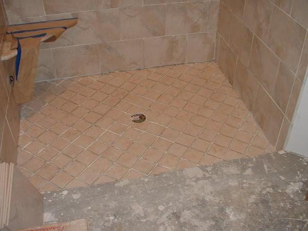 Handyman Messed Up New Shower Floor On Slab Help