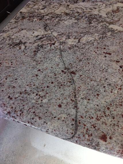 Crack In New Granite Counter Ceramic Tile Advice Forums