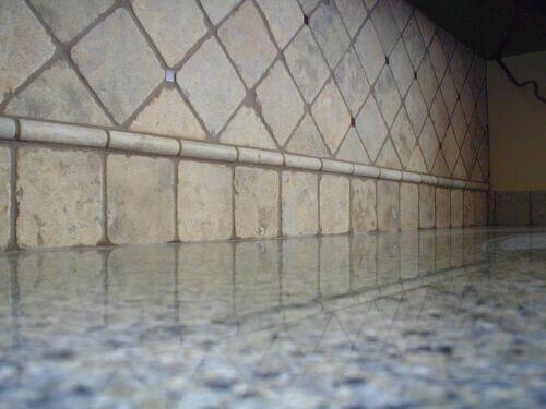 Granite Counter Marble Backsplash Quandry Ceramic Tile