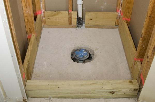 Shower Install On Slab Large Hole Around Pvc Drain