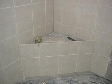 Tiled Shower Seat Bench Made From
