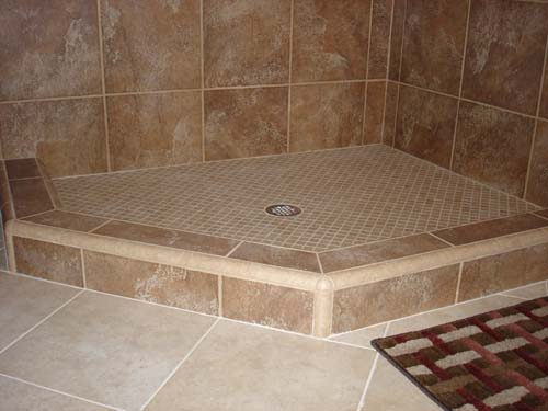 Shower Curb Dam Or Threshold For Tile Showers