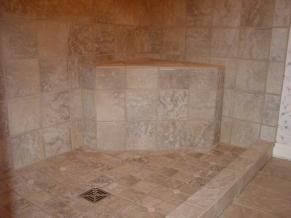 Accessible shower tiled handicap shower ada wheelchair accessible shower tile your world Tile shower stalls
