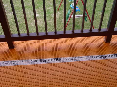 Tiling With Ditra Uncoupling Membrane Balcony Terrace