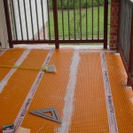 Seams Covered with Kerdi Membrane