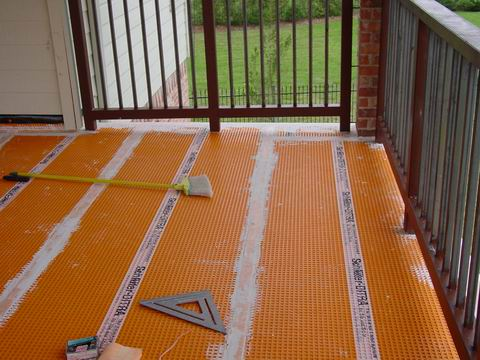 Waterproofing balcony floor