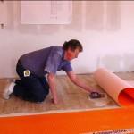 John Installing Ditra Uncoupling Membrane