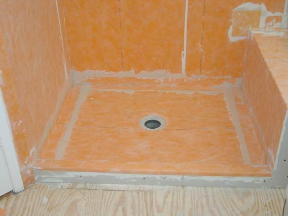 Good Shower Completely Waterproofed With Kerdi