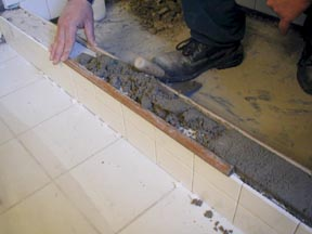 how to build a shower curb with 2x4