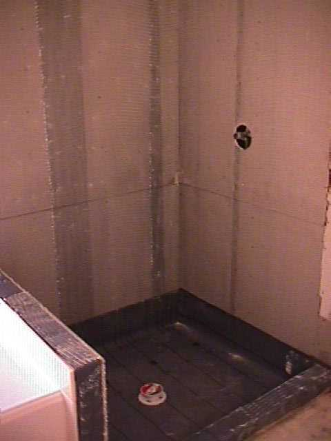 The New Shower Pan Is Installed Correctly Walls Are Closed In