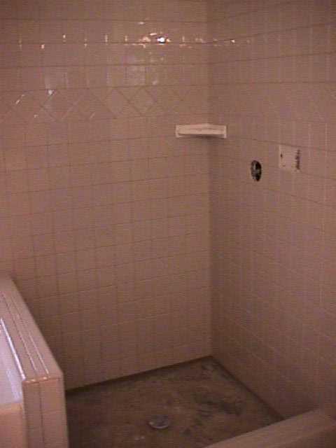 No Tile Bathroom