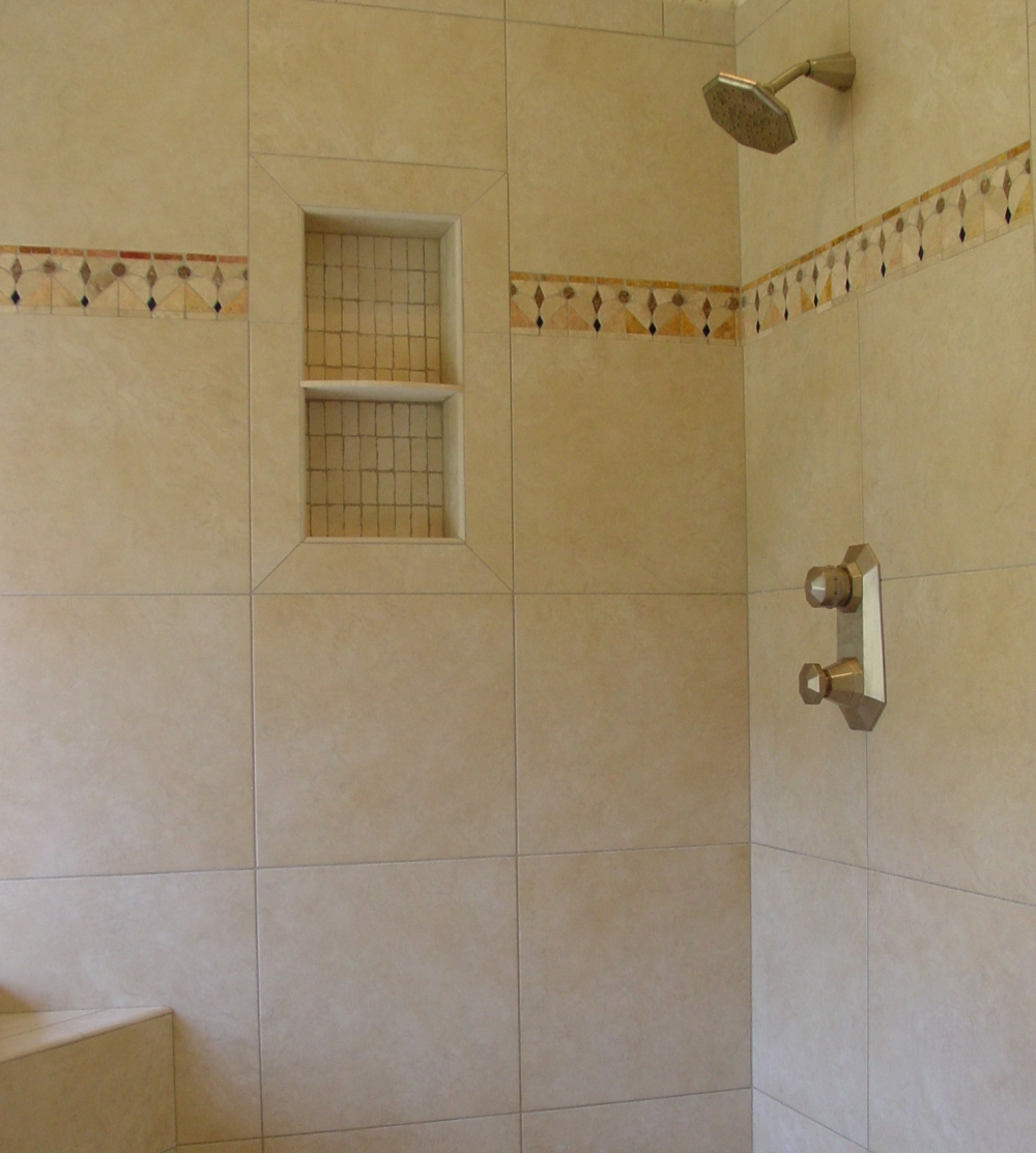 Tile Shower Shampoo Niche - Soap Dish and Shampoo Recess | Tile Your ...
