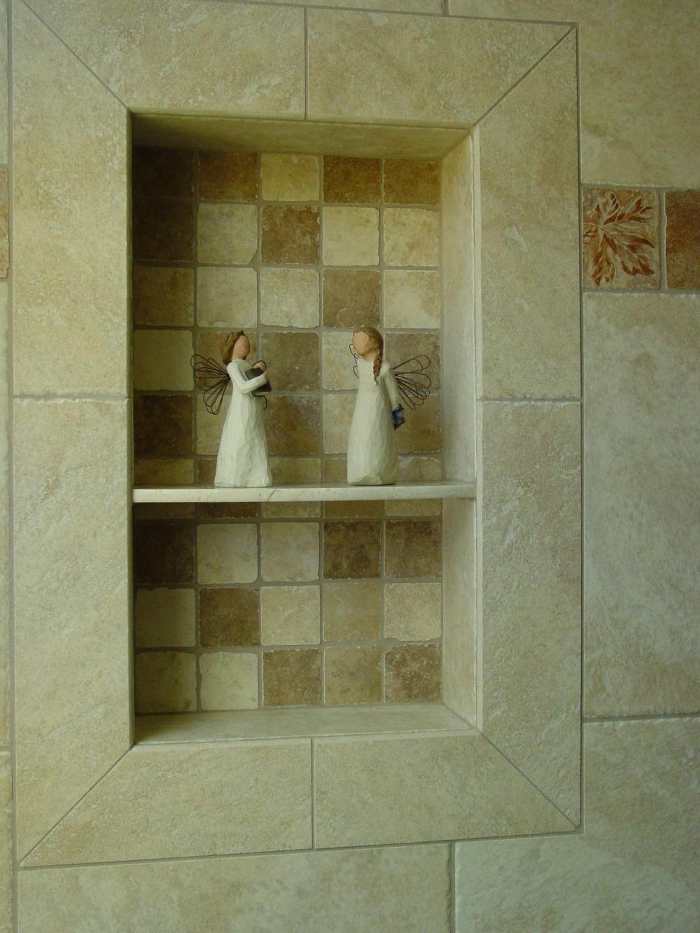 Tile Shower Shampoo Holder | Migrant Resource Network