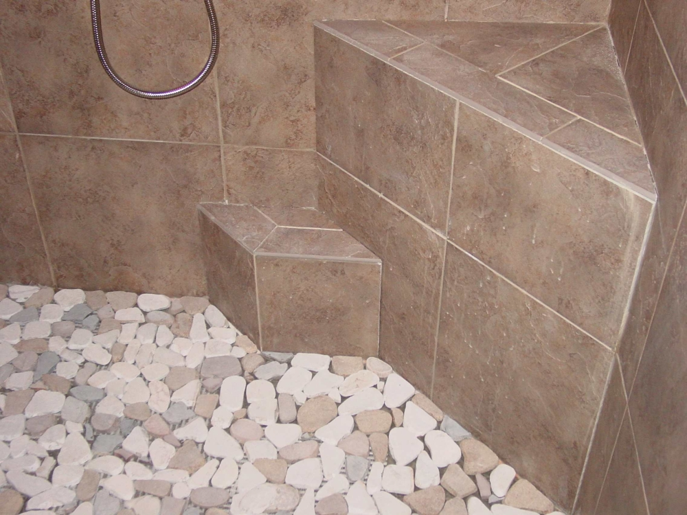 Shower Floors For Tiled Showers How To Install Small Rocks Tile