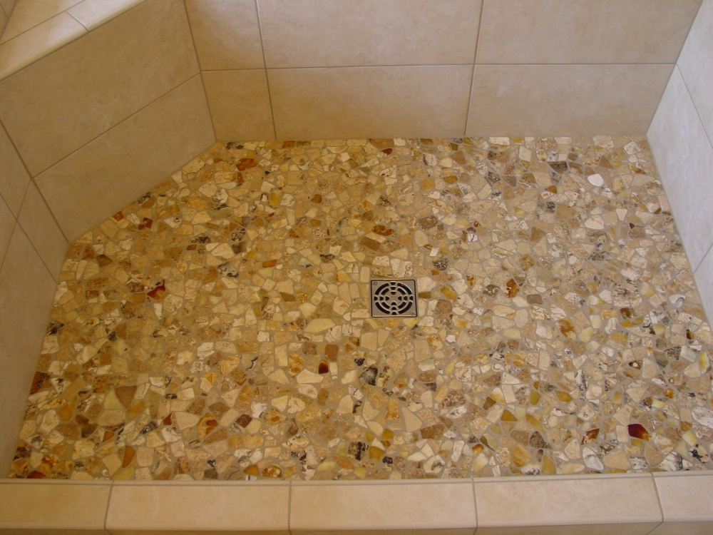 Pebble Shower Floors For Tiled Showers How To Install Small Rocks Tile Your World