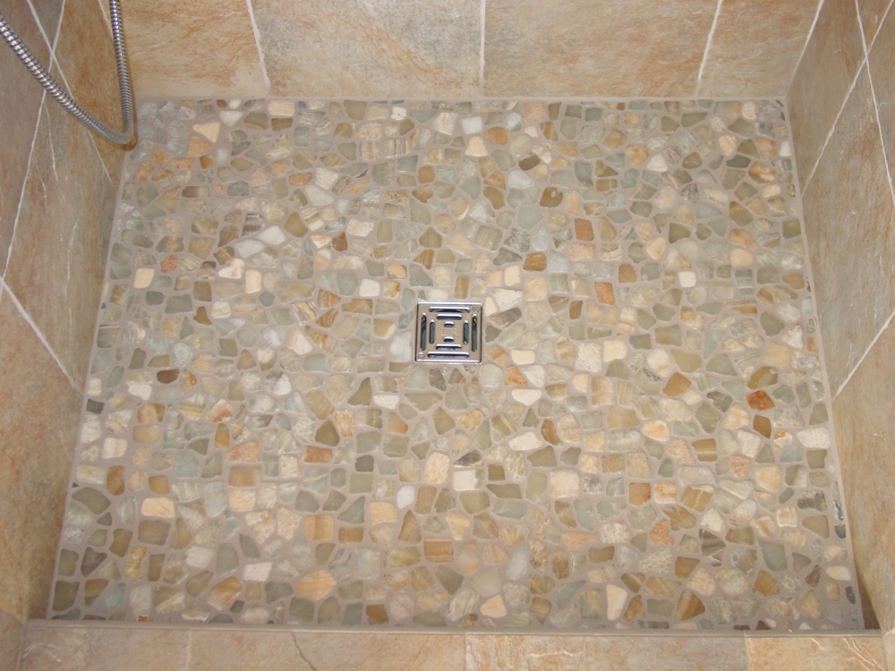 Related Pictures Pebble Stone Shower Floor 527