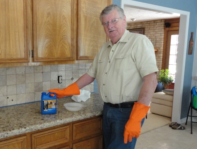how to seal a stone tile backsplash using miracle 511