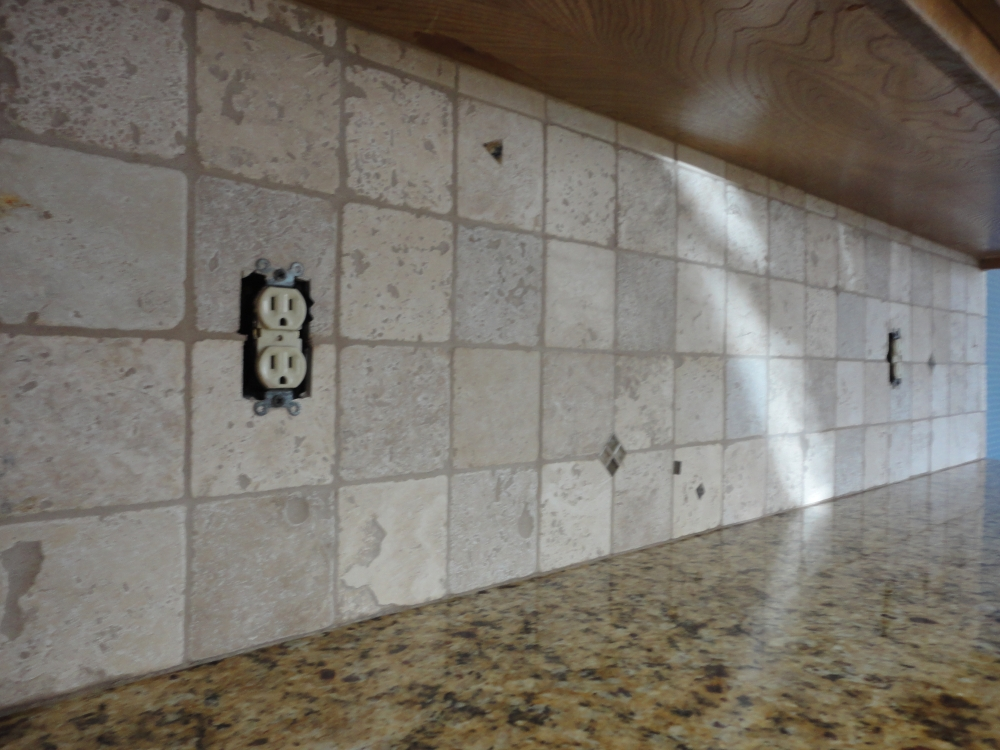 Grouting A Backsplash To Countertop Joint With Latex Caulking Tile Interesting Grouting Kitchen Backsplash
