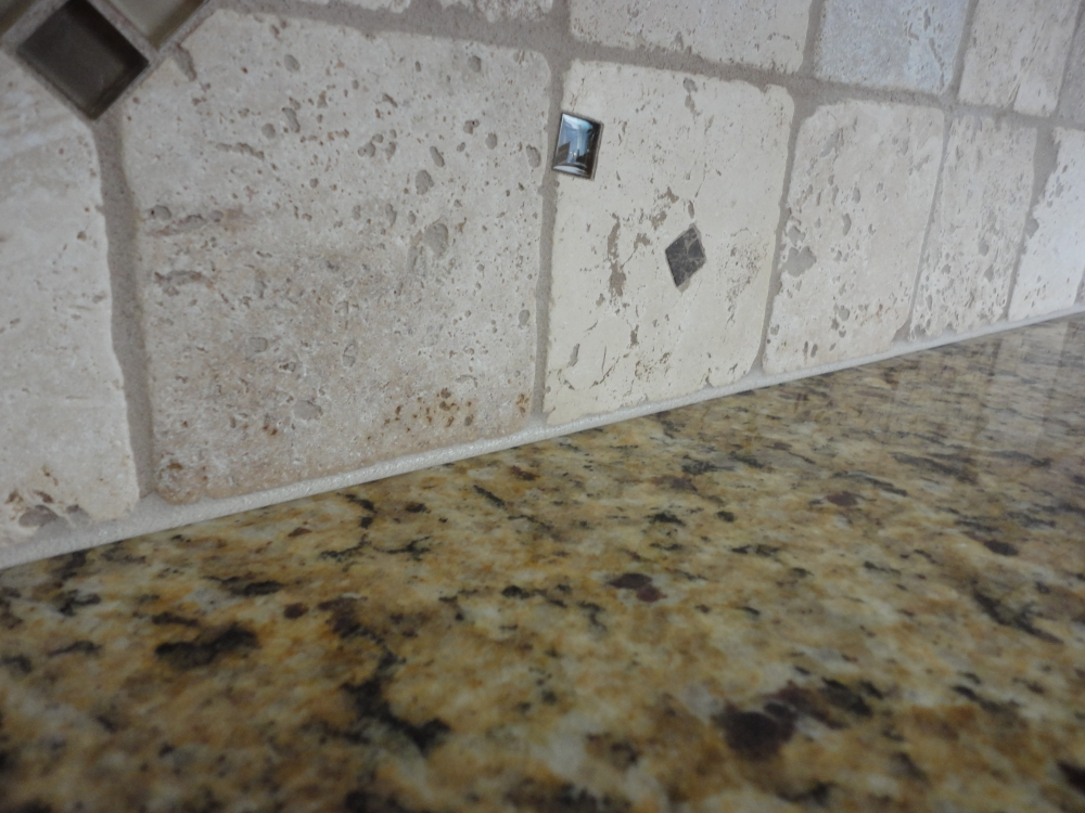 Grouting A Backsplash To Countertop Joint With Latex