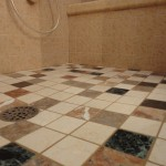 Grouted, finished floor.